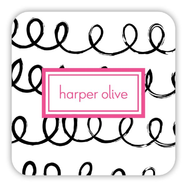 Weeeee Personalized Paper Drink Coasters (125)