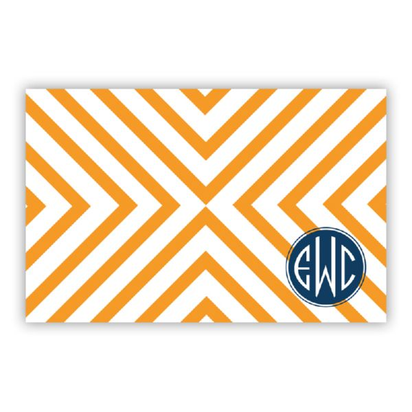Chevron Personalized Disposable Placemat Pad (25 sheets)