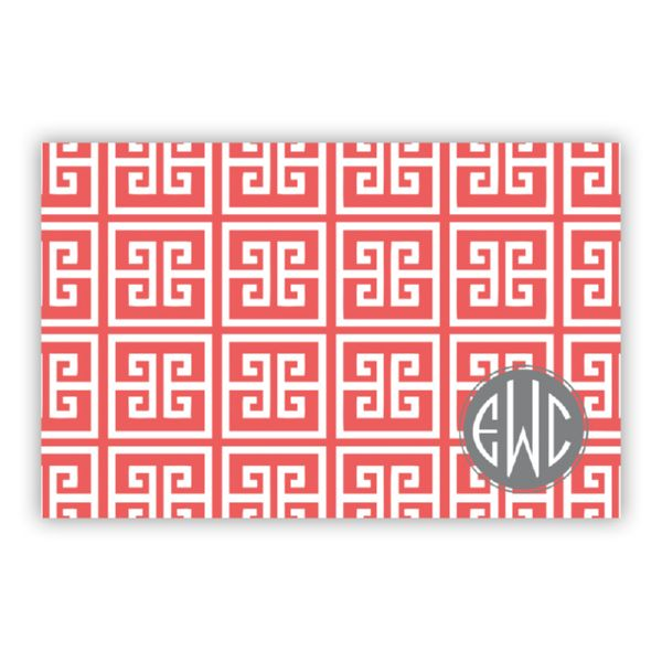 Greek Key Personalized Disposable Placemat Pad (25 sheets)