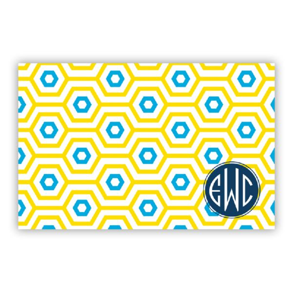 Happy Hexagon Personalized Disposable Placemat Pad (25 sheets)