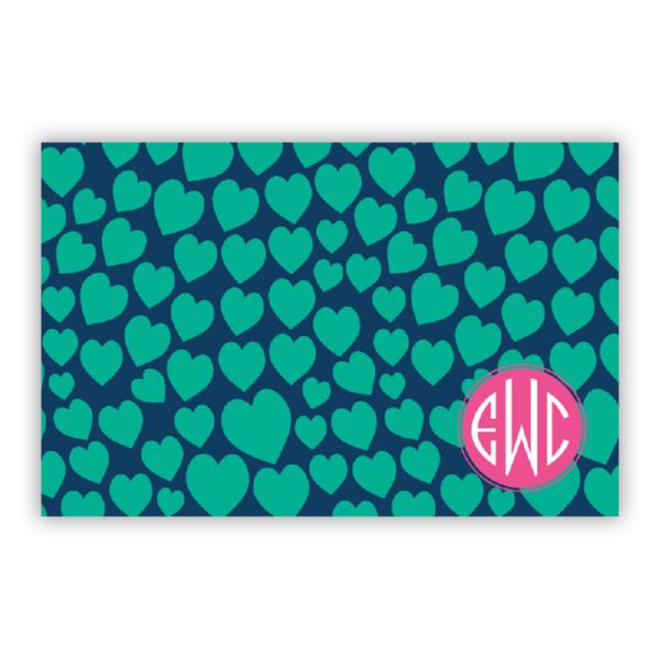 Love Struck Personalized Disposable Placemat Pad (25 sheets)