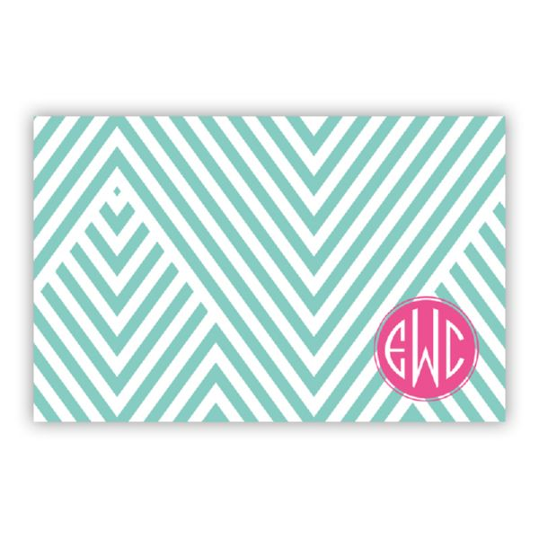 Modern Chevron Personalized Disposable Placemat Pad (25 sheets)