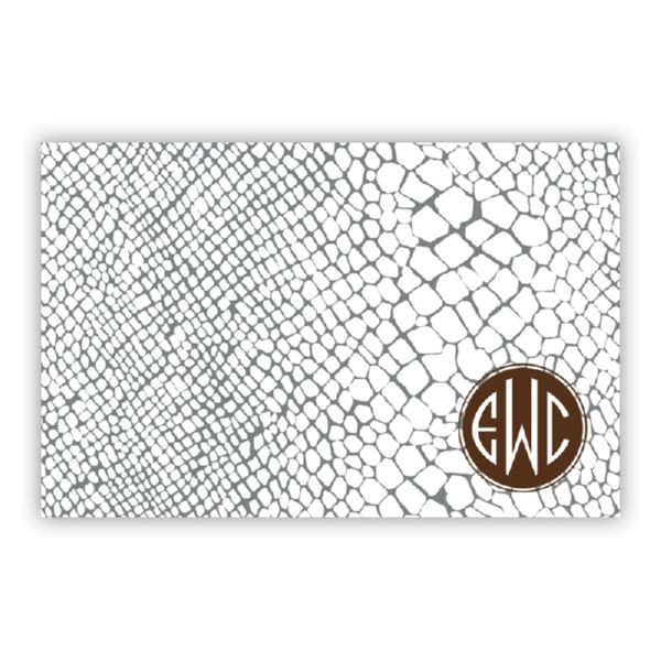 Snakeskin Personalized Disposable Placemat Pad (25 sheets)