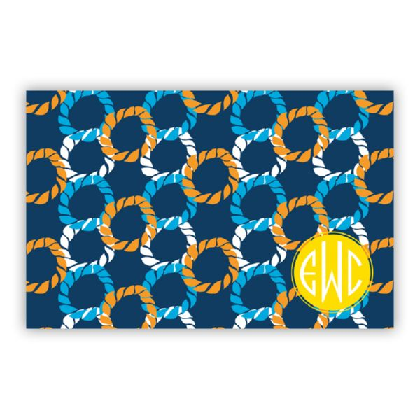 Nautical Knots Personalized Disposable Placemat Pad (25 sheets)