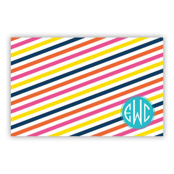 Fruit Stripe Personalized Disposable Placemat Pad (25 sheets)