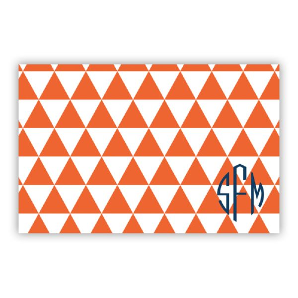 Triangles Personalized Disposable Placemat Pad (25 sheets)