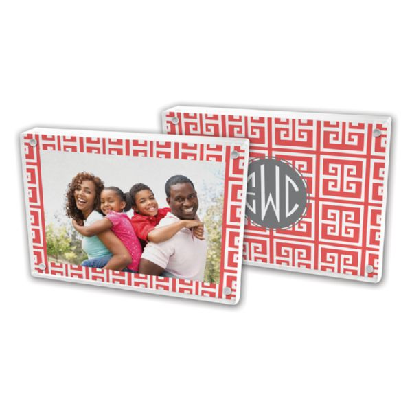 Greek Key Personalized 5x7 Picture Frame (Lucite)