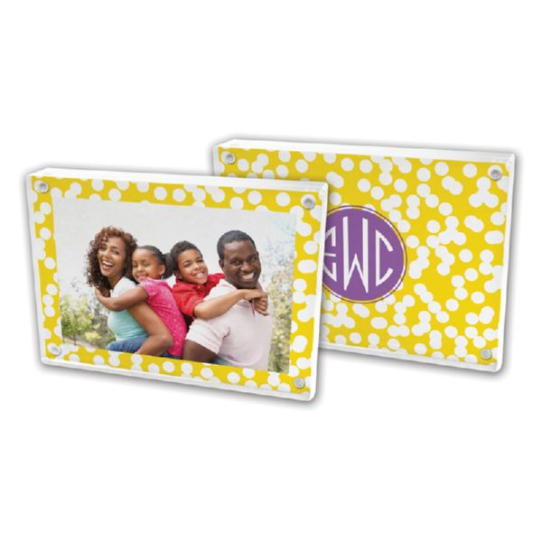 Hole Punch Personalized 5x7 Picture Frame (Lucite)