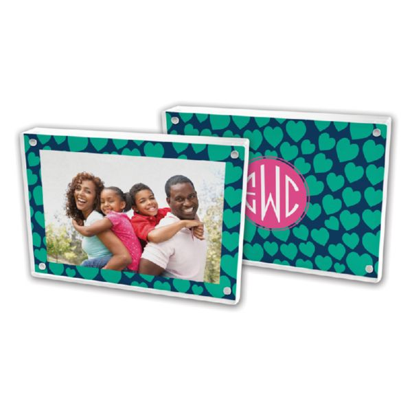 Love Struck Personalized 5x7 Picture Frame (Lucite)