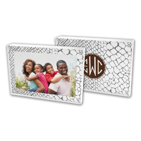 Snakeskin Personalized 5x7 Picture Frame (Lucite)