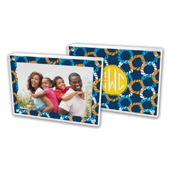 Nautical Knots Personalized 5x7 Picture Frame (Lucite)