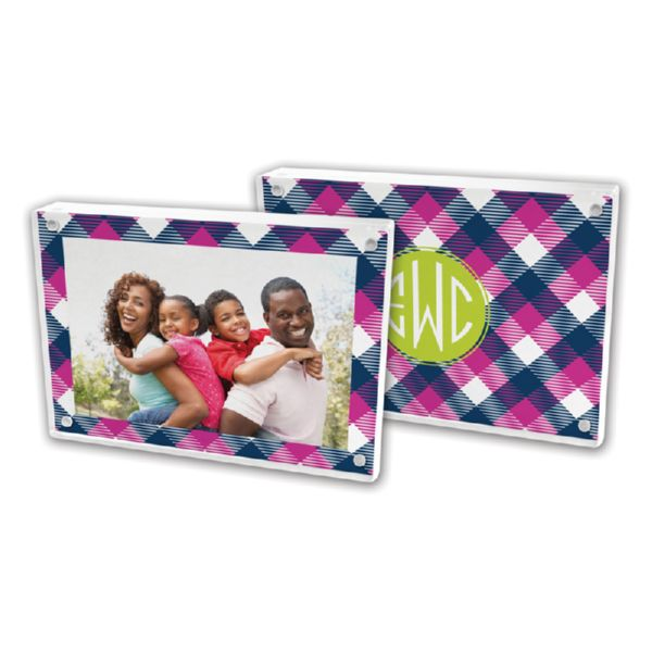 Tartan Personalized 5x7 Picture Frame (Lucite)