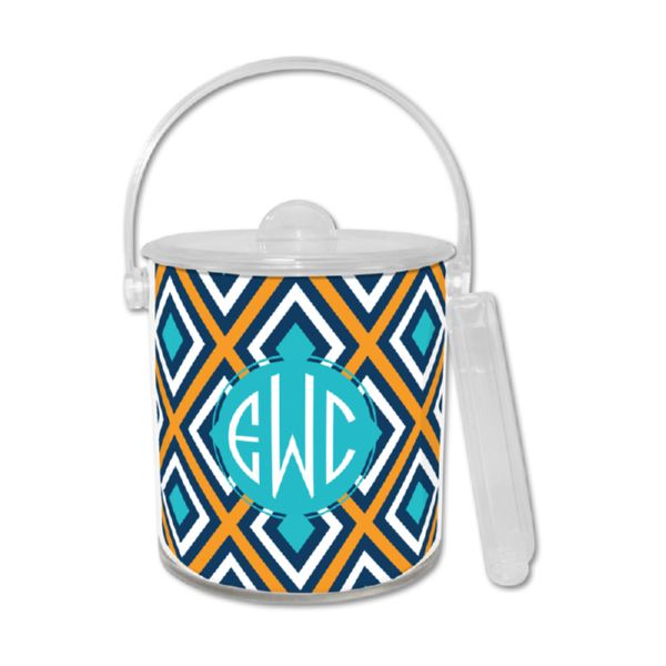 Lantern Personalized Ice Bucket with Tongs