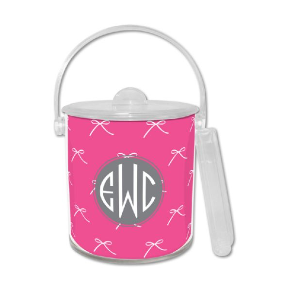 Chloe Personalized Ice Bucket with Tongs