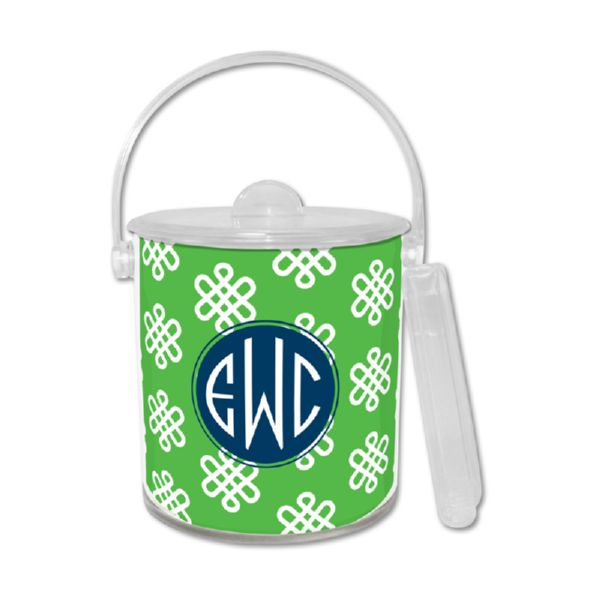 Clementine Personalized Ice Bucket with Tongs