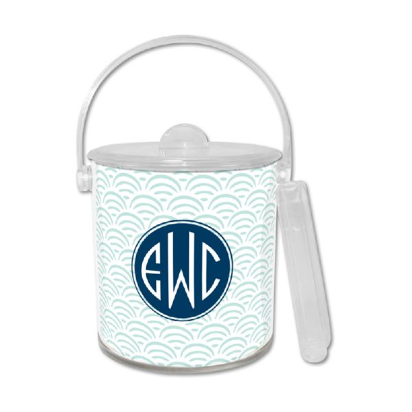 Ella Personalized Ice Bucket with Tongs