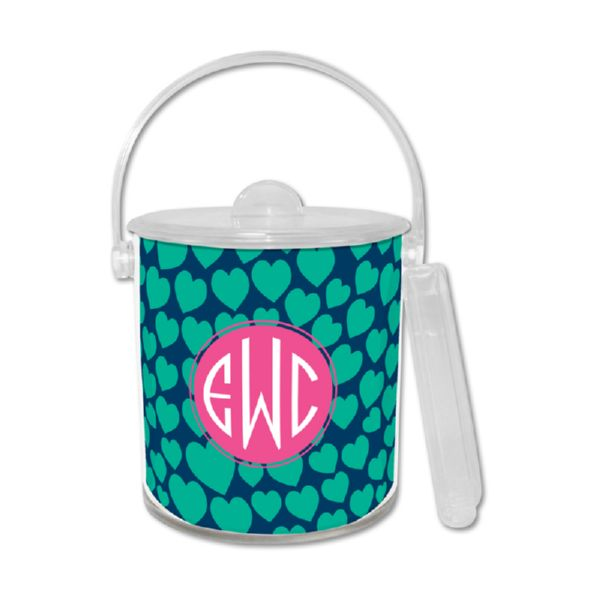 Love Struck Personalized Ice Bucket with Tongs