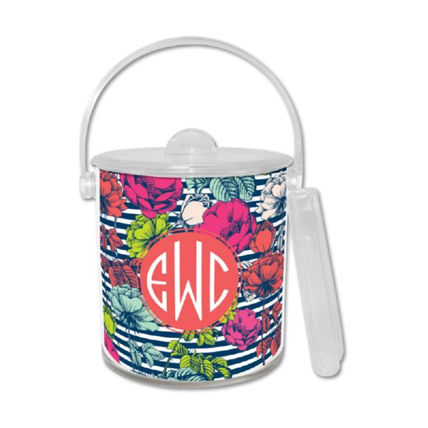 Millie Personalized Ice Bucket with Tongs