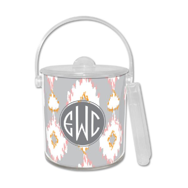 Mirage Personalized Ice Bucket with Tongs