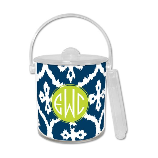 Montauk Personalized Ice Bucket with Tongs