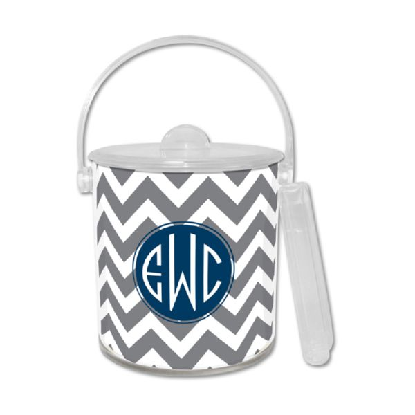 Ollie Personalized Ice Bucket with Tongs