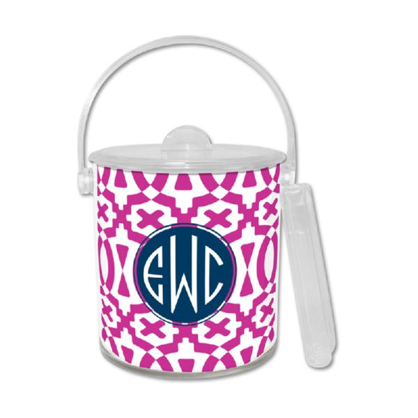 Poppy Personalized Ice Bucket with Tongs