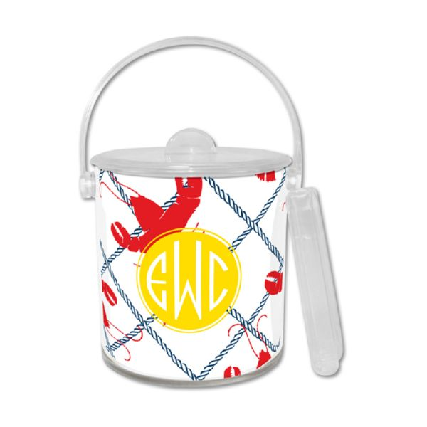Rock Lobster Personalized Ice Bucket with Tongs