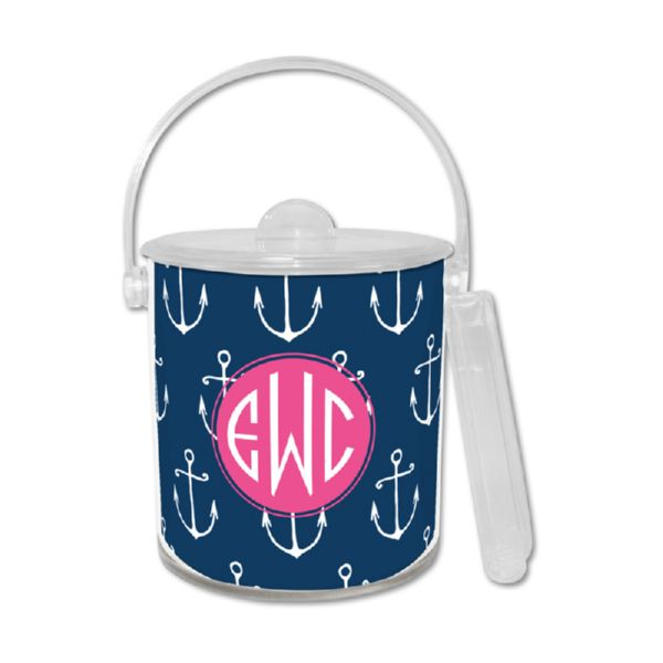 Salty Personalized Ice Bucket with Tongs