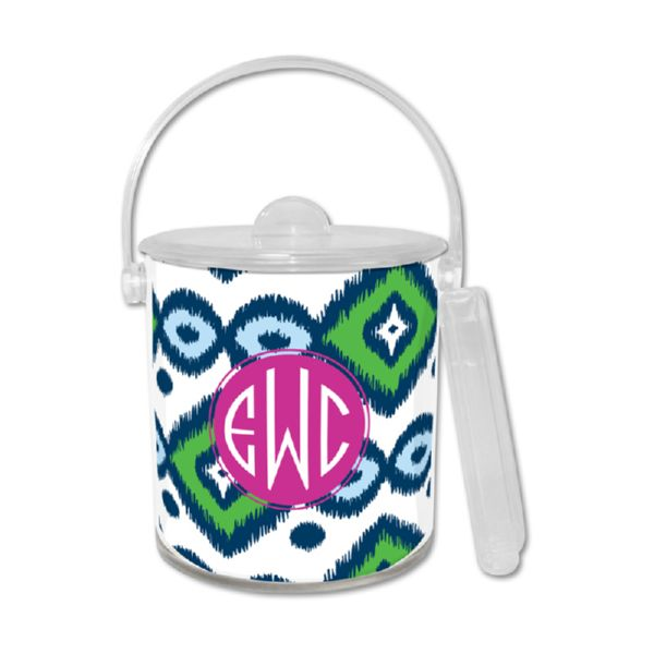 Sunset Beach Personalized Ice Bucket with Tongs