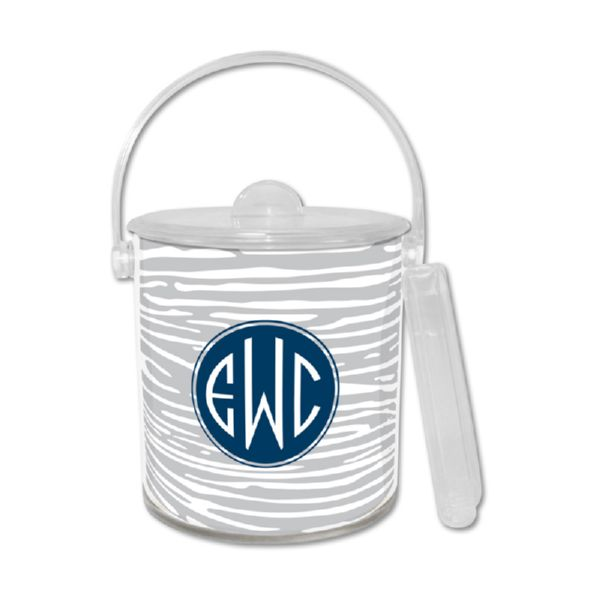 Varnish Personalized Ice Bucket with Tongs