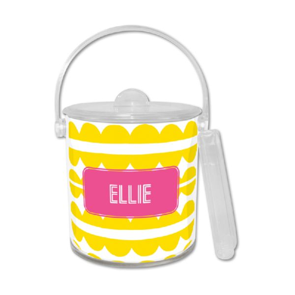 Caterpillar Personalized Ice Bucket with Tongs