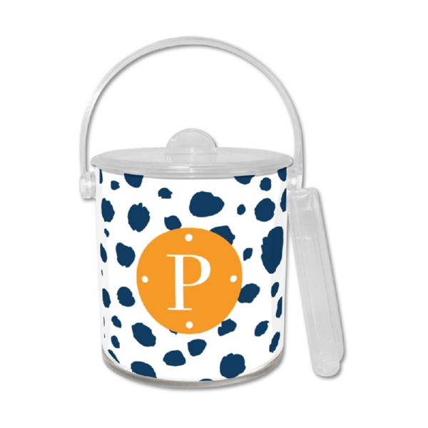 Cheetah Personalized Ice Bucket with Tongs