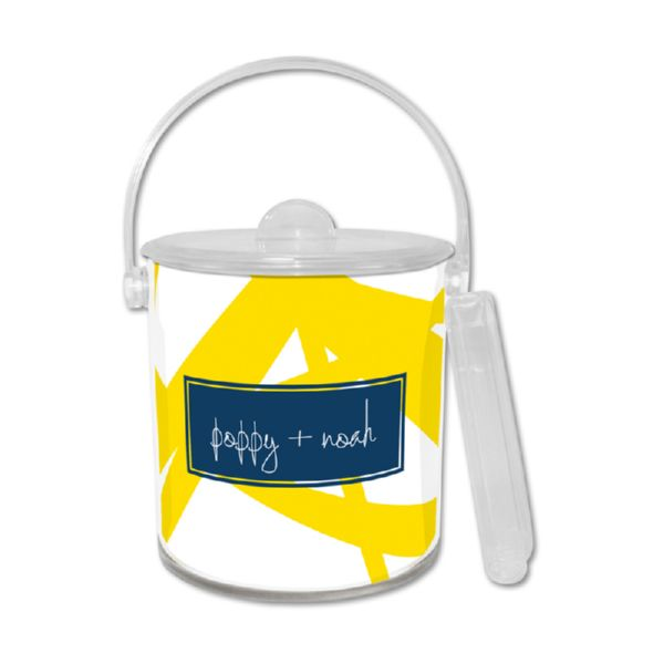 Pick Up Stix Personalized Ice Bucket with Tongs