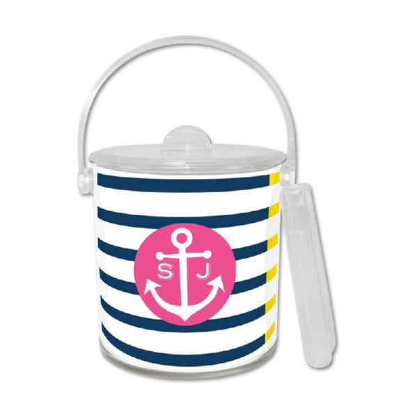 Twice As Nice Personalized Ice Bucket with Tongs
