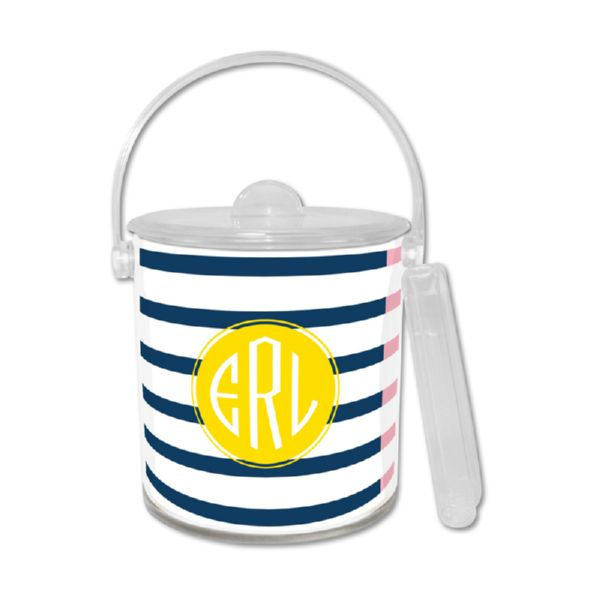 Twice As Nice 3 Personalized Ice Bucket with Tongs