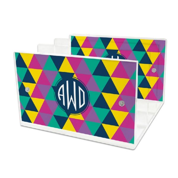 Acute Personalized Lucite Letter Tray, 2 inserts