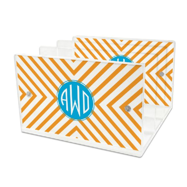 Chevron Personalized Lucite Letter Tray, 2 inserts