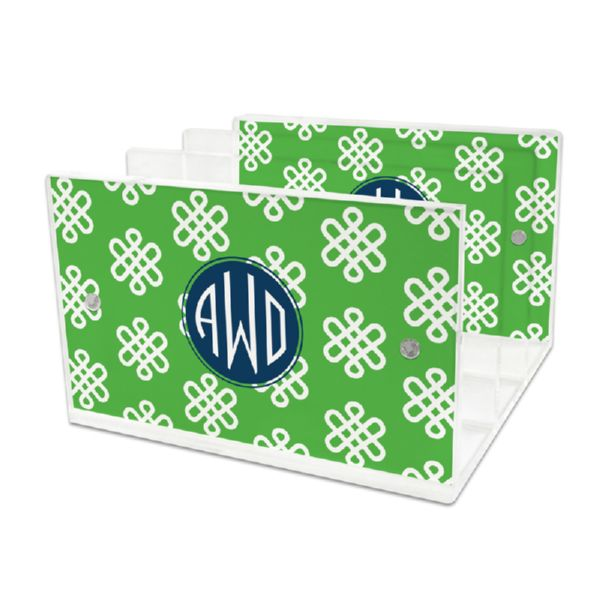 Clementine Personalized Lucite Letter Tray, 2 inserts