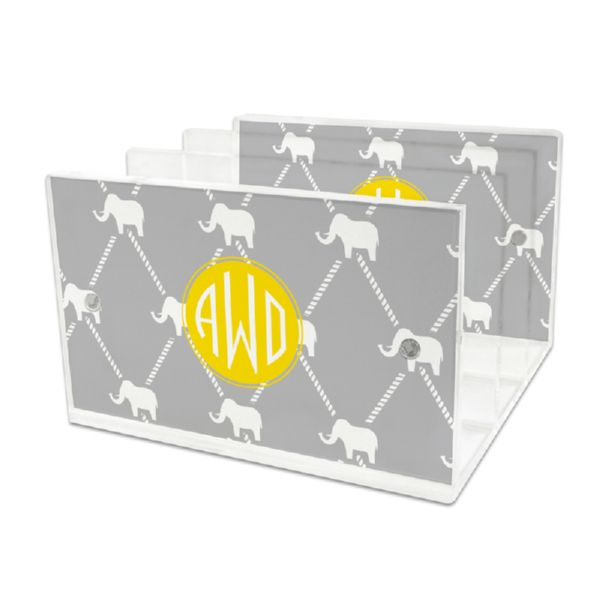 Dumbo Personalized Lucite Letter Tray, 2 inserts
