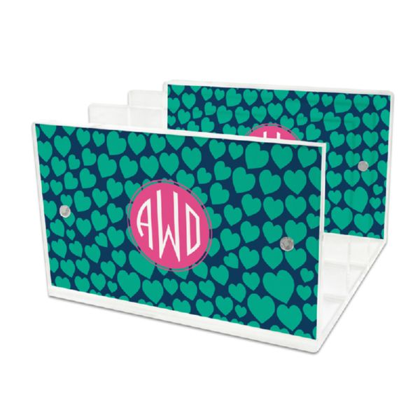 Love Struck Personalized Lucite Letter Tray, 2 inserts
