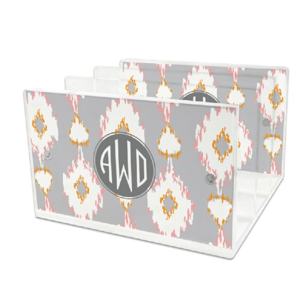 Mirage Personalized Lucite Letter Tray, 2 inserts