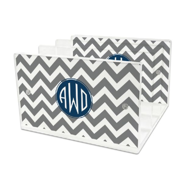 Ollie Personalized Lucite Letter Tray, 2 inserts