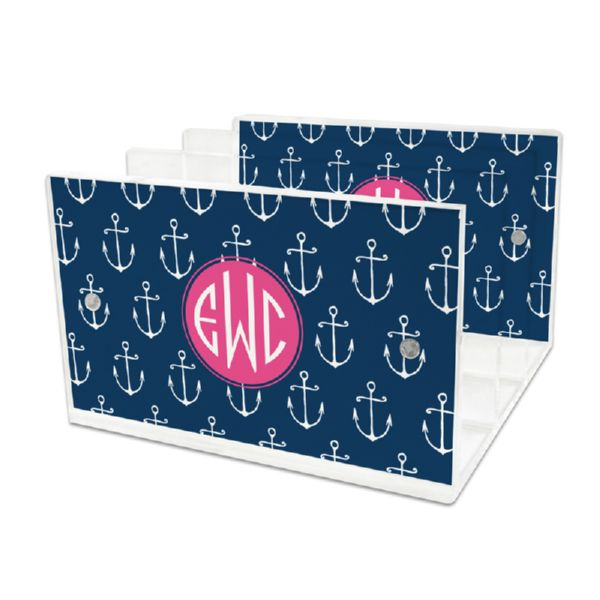 Salty Personalized Lucite Letter Tray, 2 inserts
