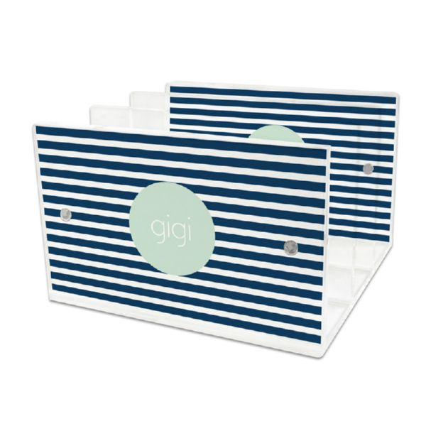 Cabana 3 Personalized Lucite Letter Tray, 2 inserts