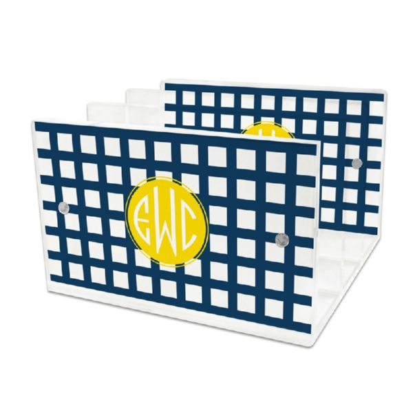 Checks & Balances Personalized Lucite Letter Tray, 2 inserts
