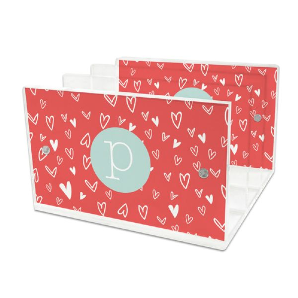 Love It Personalized Lucite Letter Tray, 2 inserts