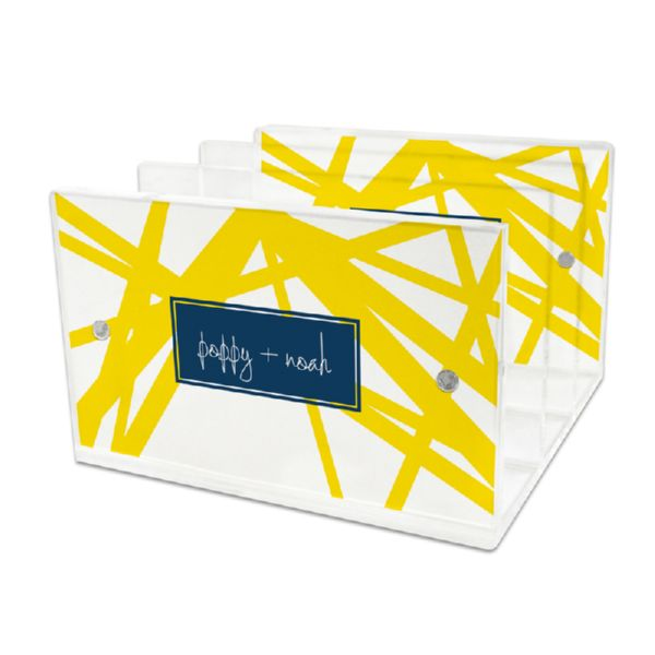 Pick Up Stix Personalized Lucite Letter Tray, 2 inserts