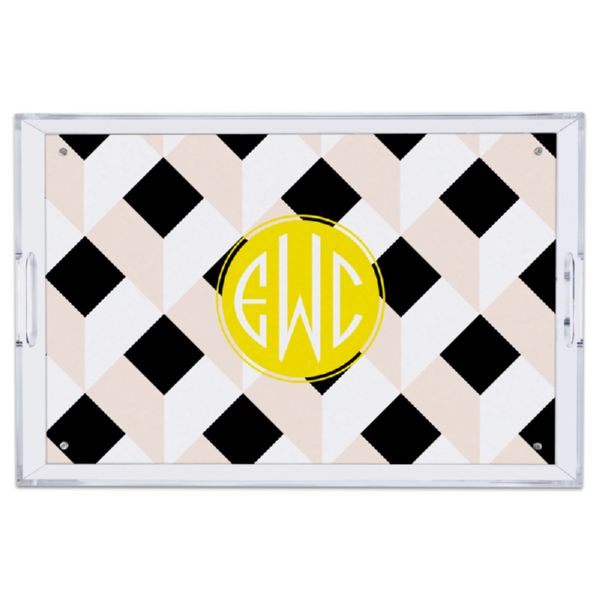 Golden Girl Personalized Large Serving Tray (Lucite)