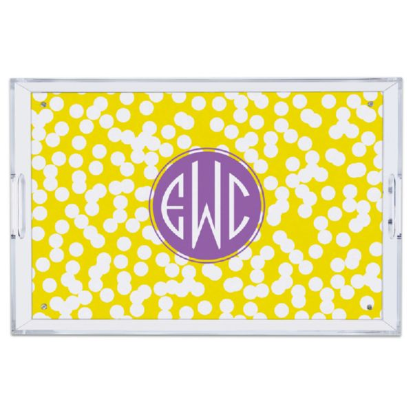 Hole Punch Personalized Large Serving Tray (Lucite)