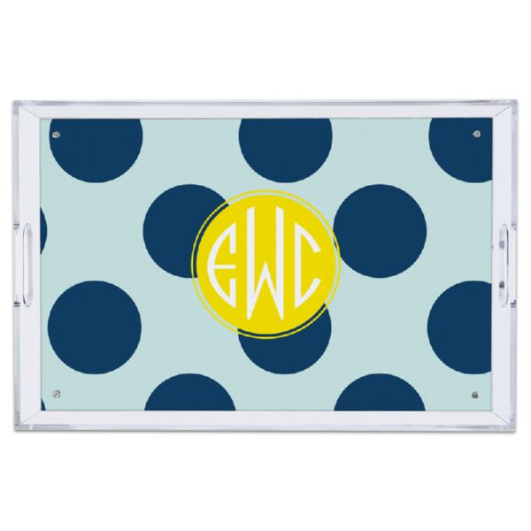 Jane Personalized Large Serving Tray (Lucite)